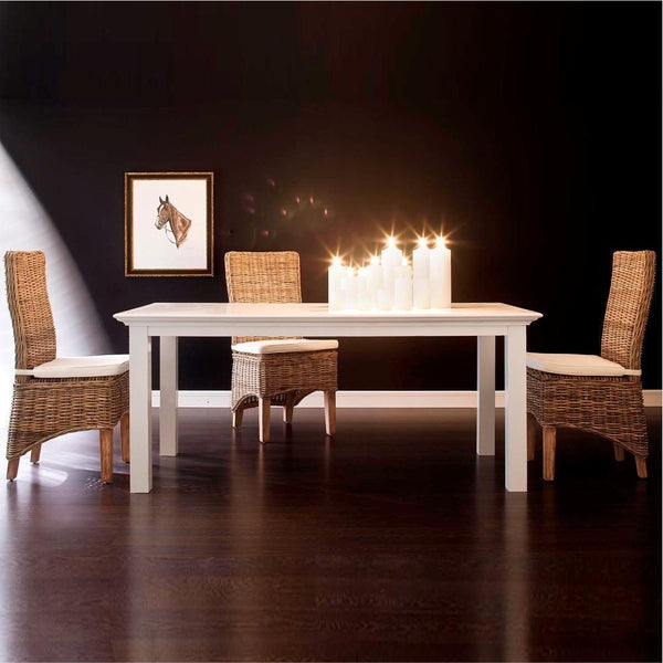Meja Makan Kayu Mahoni Kokoh 200cm Dining Table by NovaSolo