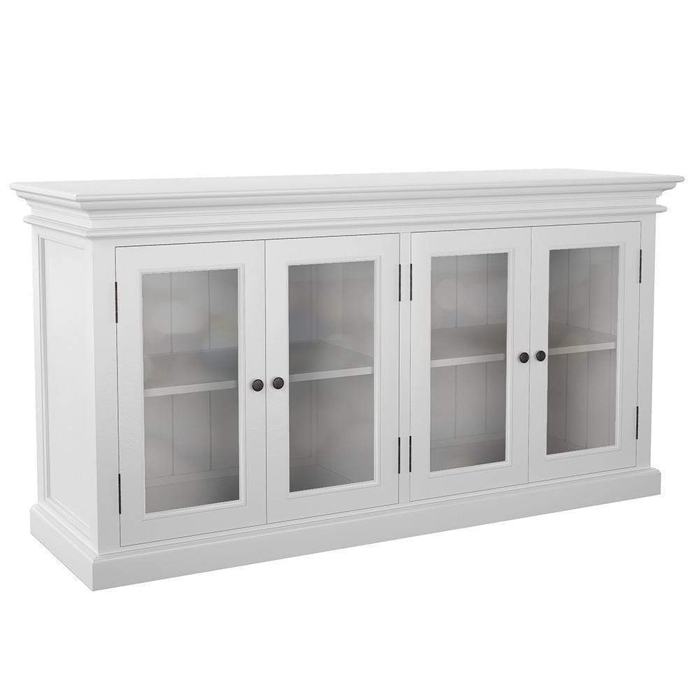 Halifax Glass Display Buffet with 4 Doors-Buffet-Hygge Home US