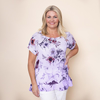 Frill Floral Linen Top