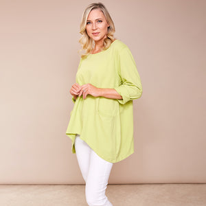 Vicky 2 Pocket Top (Apple Green)