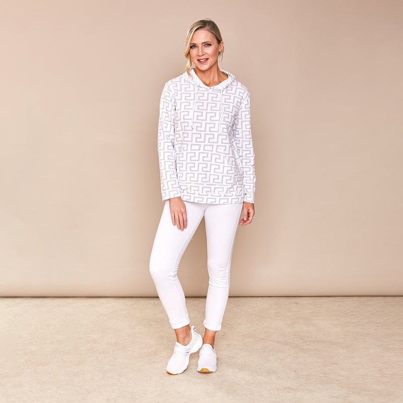 Aoife Hoody S/Shirt  ( White)