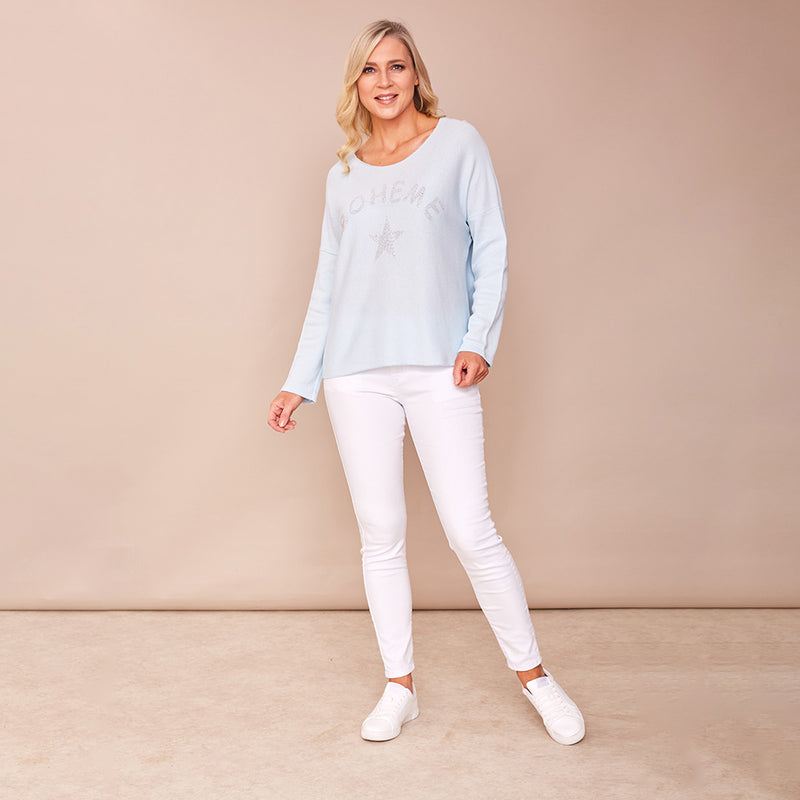Mia Scoop Neck (Baby Blue)