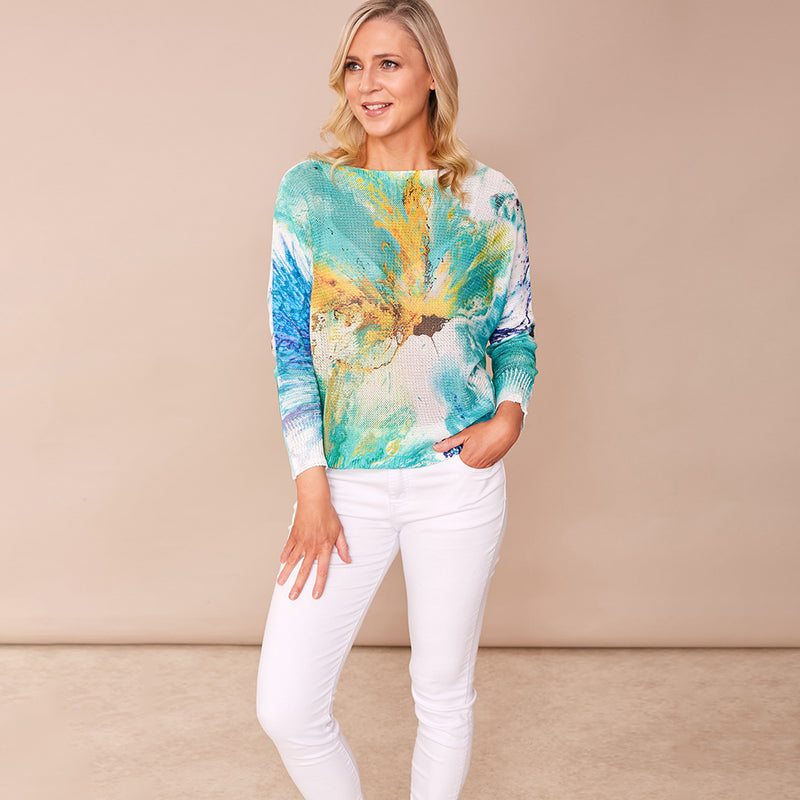 Karina Batwing Jumper (Splash)