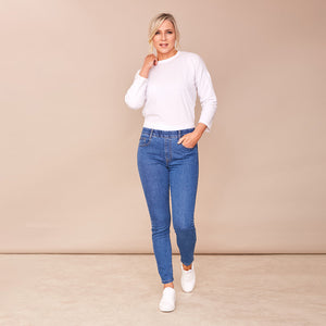 Susi Denim Trouser (Blue)