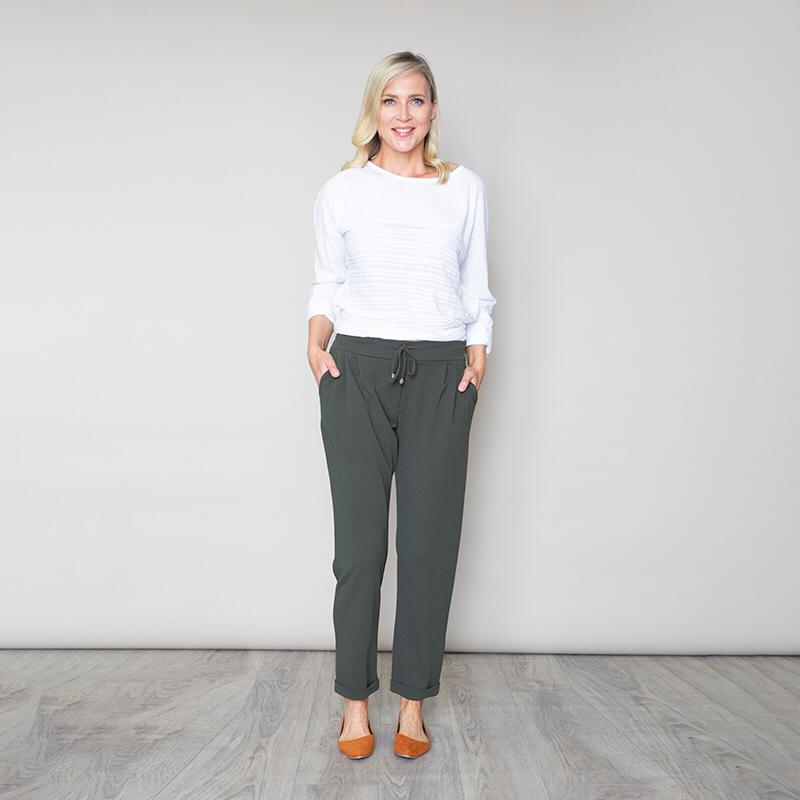 Stretch Waist Toggle Trouser (Khaki)