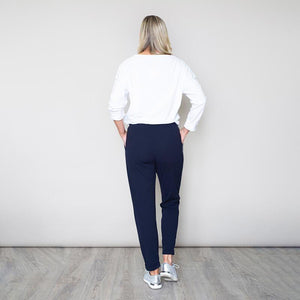 Stretch Waist Toggle Trouser (Navy)