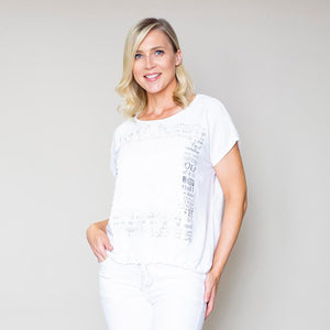 Lace Tie Top (White)