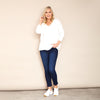 Vicky V Neck Jumper (Cream)
