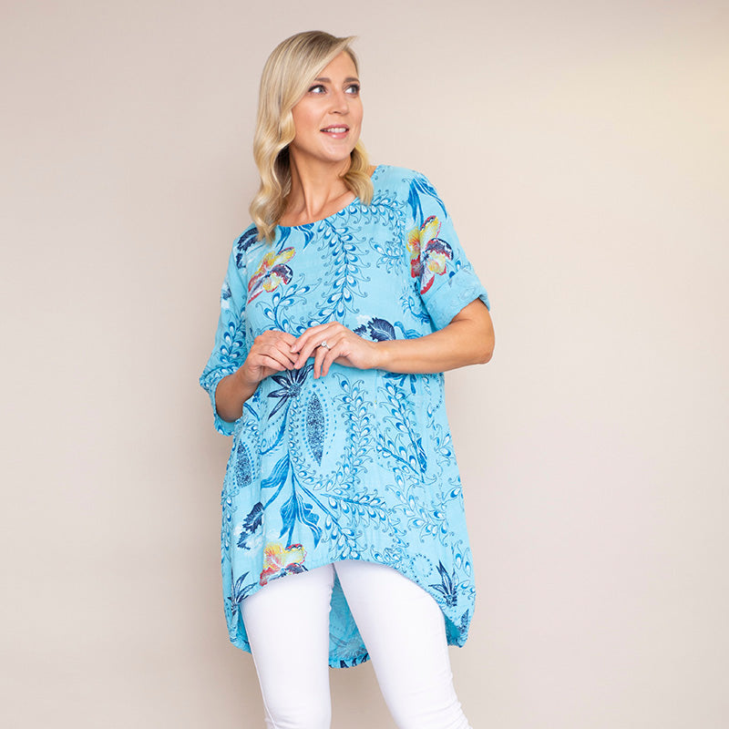 Lily Cotton Top (Blue)