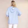 Crinkle Cotton Hoody Jacket (Blue)