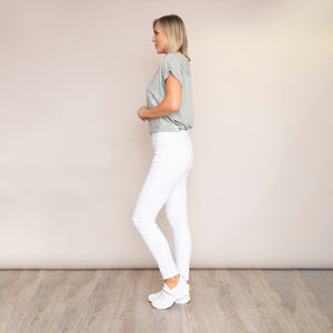 Bianko Stretch Waist Cotton Trouser