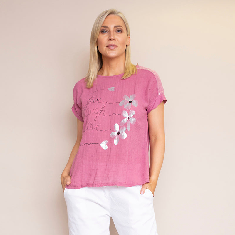 Linda T-Shirt (Raspberry)