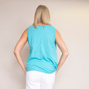 Laura Top (Aqua Green)