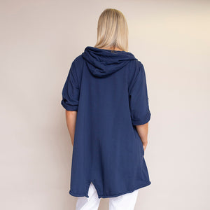 Evelyn Relaxed Fit Hoody (Navy)