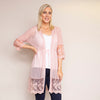 Embroidered Long Lace Cardi