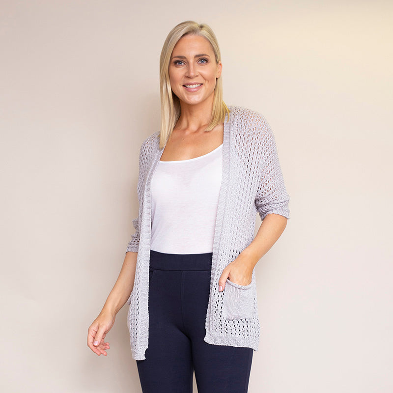 Honeycomb Pocket Cardi (Grey)