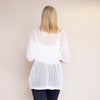 Honeycomb Pocket Cardi (White)