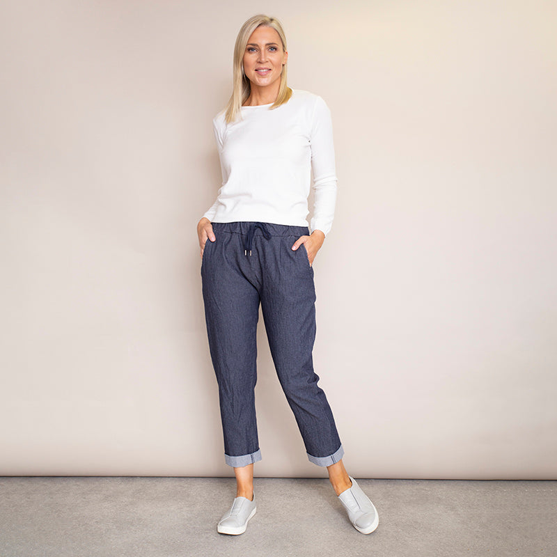 Drawstring Cotton Trouser
