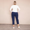 Jackie Drawstring Trousers (Navy)