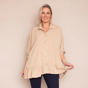 Cliona Blouse (light Beige )