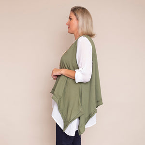 Brenda Two Piece Top (Khaki)