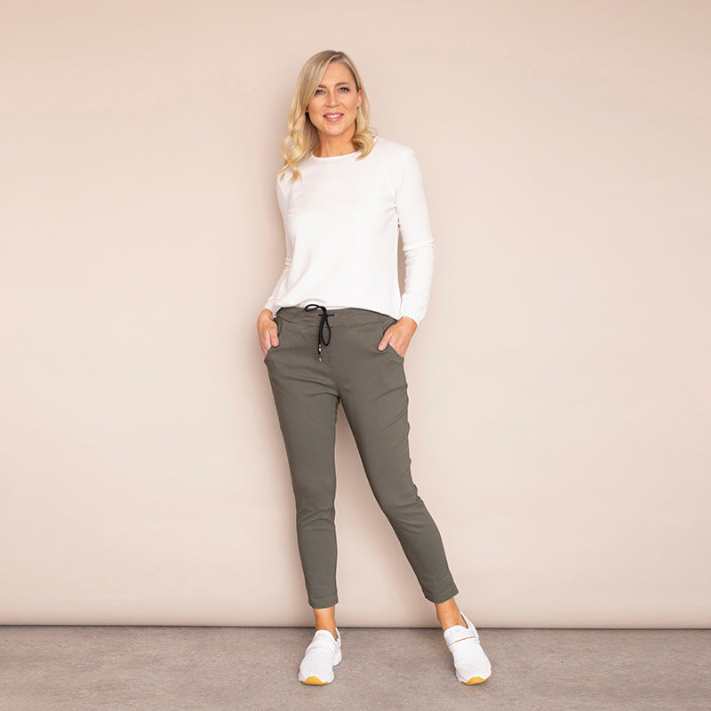 Bree Stretch Trousers  (Khaki)