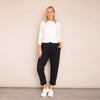 Jackie Drawstring Trousers (Black)