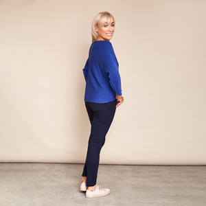 Copy of Valerie Batwing Jumper (Electric Blue)
