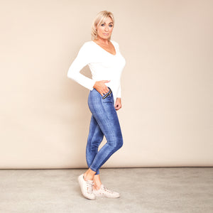 Gina Leggings (Blue)