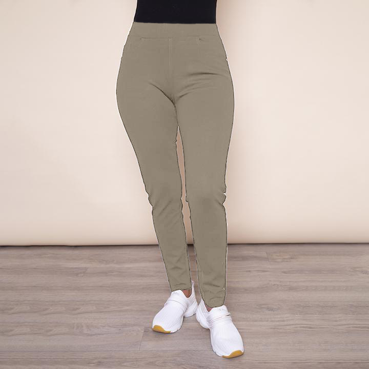 Stretch Waist Stud Pocket Trouser (Khaki)