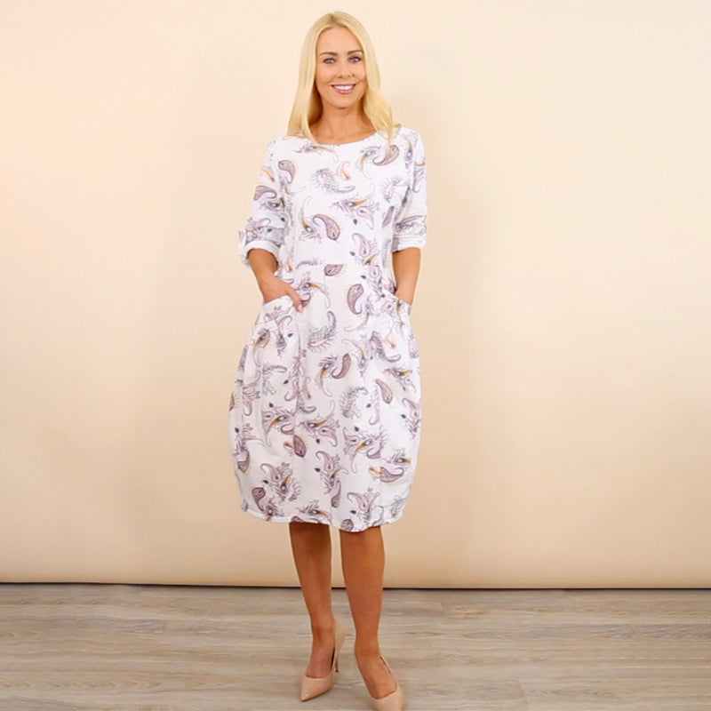 Round Neck Penny Floral Dress