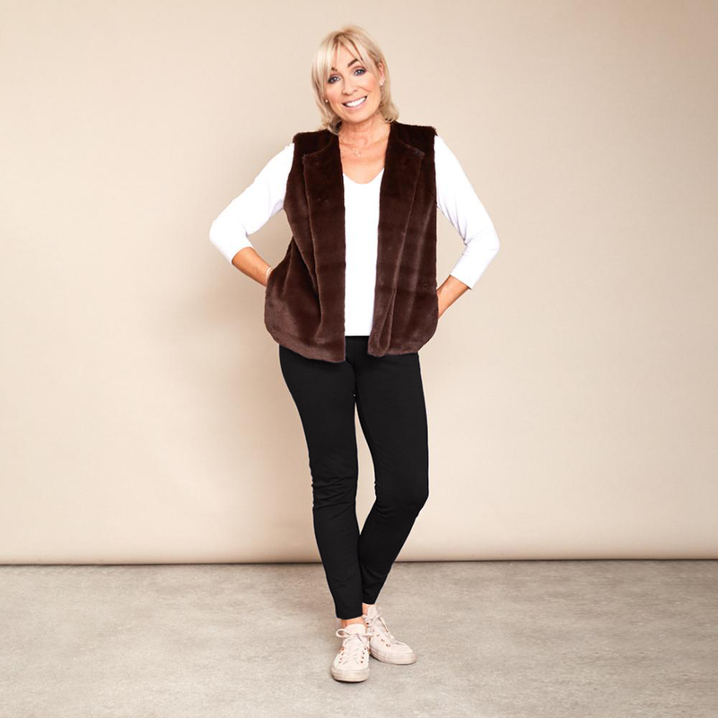 Patricia Fur Gilet (Brown)