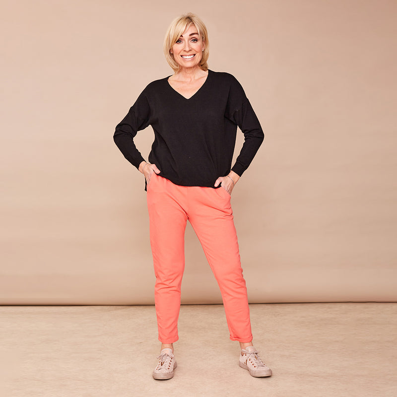 Drawstring Trousers (Coral)