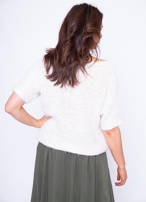Batwing Round Neck Mohair Jumper