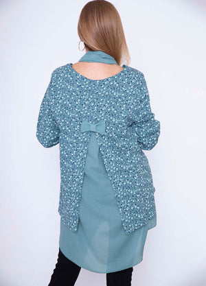 Bow Back Flower Tunic