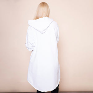 Button Sleeve Hoody Jersey Jacket