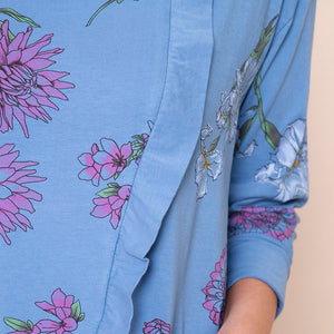Cowl Neck Floral Pocket Tunic