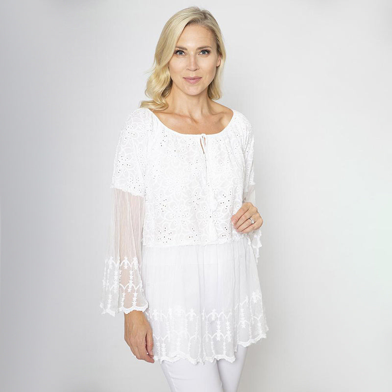 Daisy Lace Tie Top