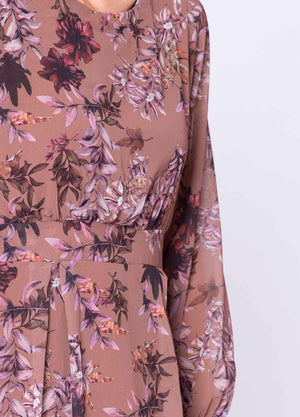 Floral Print Pleat Dress