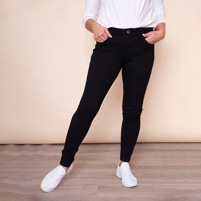 Heart Bow Stud Pocket Trouser (Black)