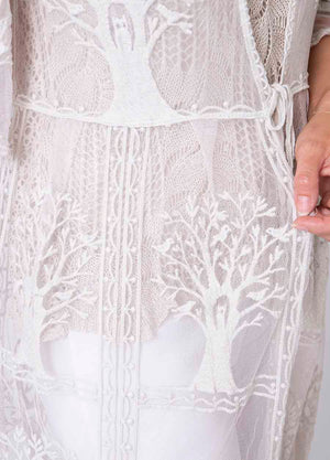 Long Tree of Life Lace Cardi