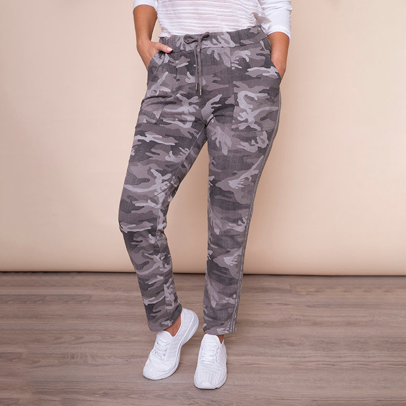 Military Style Joggers (Taupe)