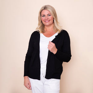 Round Neck Button Cardi