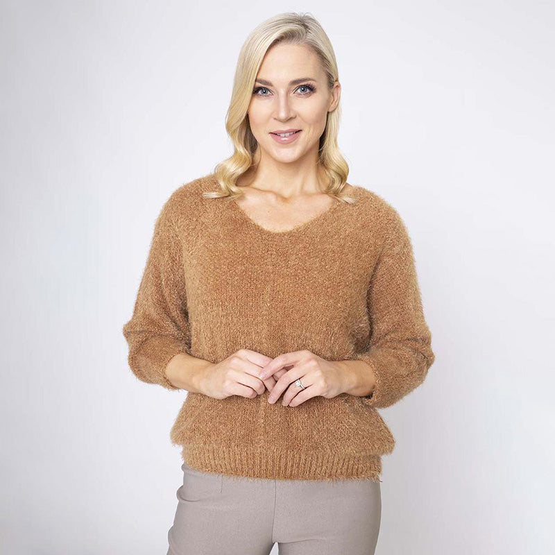 Scoop Neck Mohair Jumper
