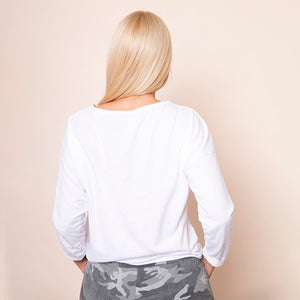 Side Tie Top White