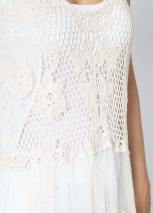 Sleevless Crochet Lace Dress