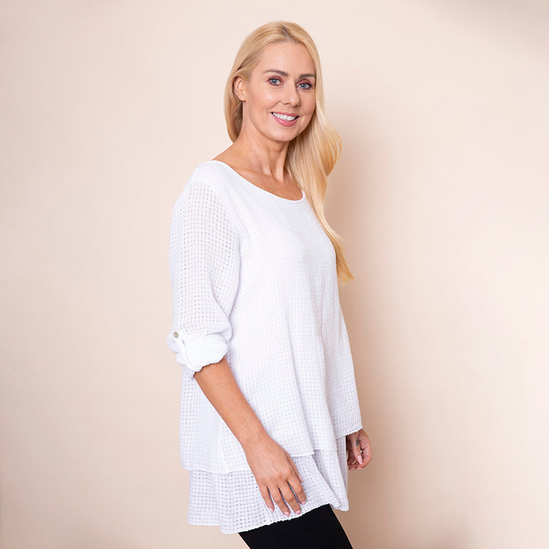 Trelis Frill Layered Top