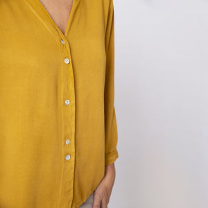 V Neck Button Shirt