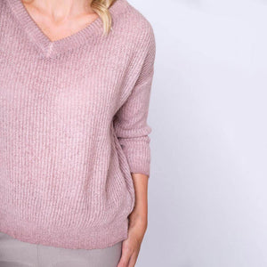 V Neck Mohair Jumper