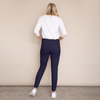Kylie Cotton Trousers (Navy)